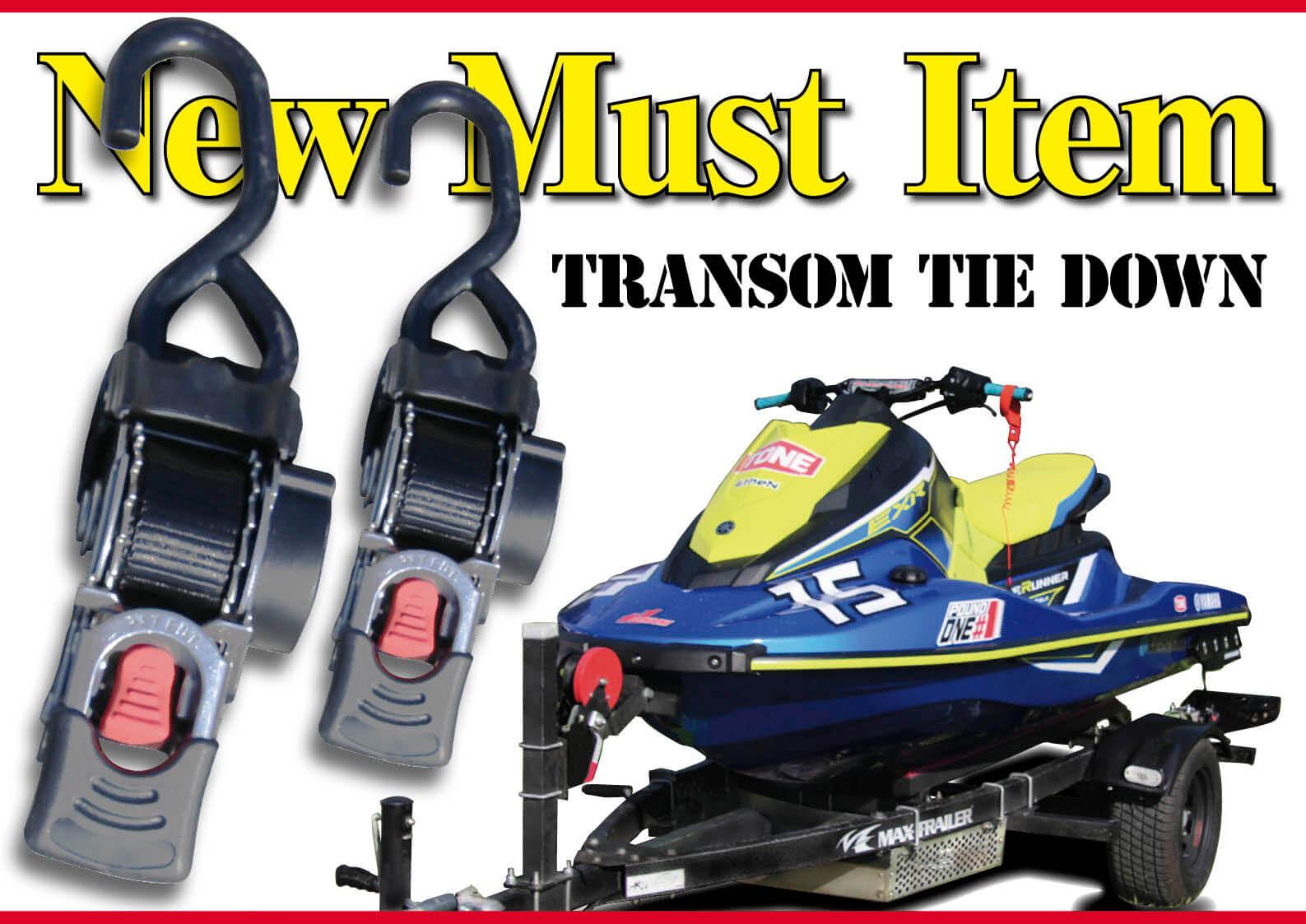 トレーラーの必需品 タイダウンベルトが超簡単、超便利になった ジェットスキー(水上バイク)