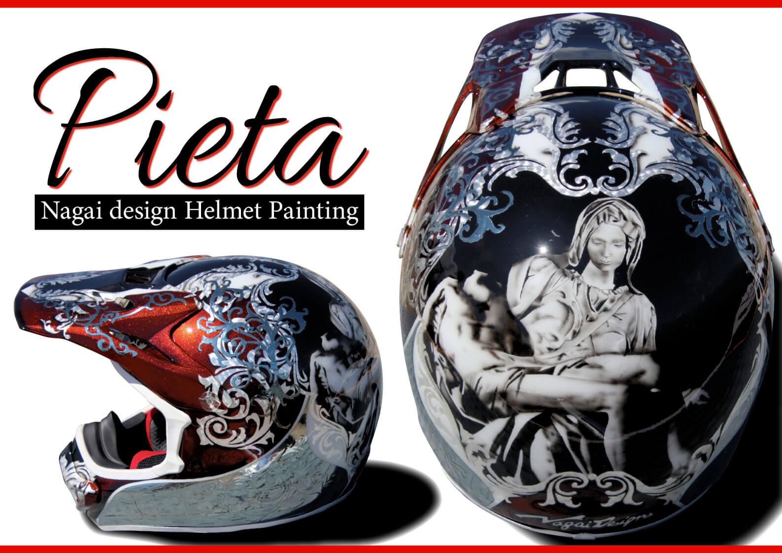 国内ヘルメットペイントの第一人者・ナガイデザイン代表 長井 崇氏の新作「ピエタ(Pieta)」について聞く  ジェットスキー(水上バイク)