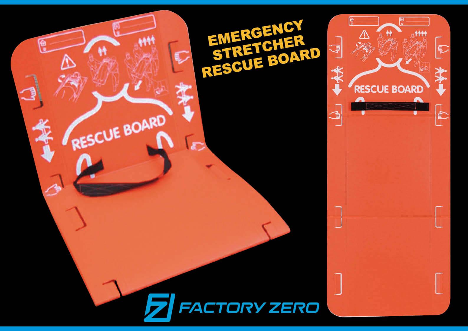 【新商品】コンパクトに収納でき、広げれば救命! 緊急用簡易担架レスキューボート ファクトリーゼロ社 ジェットスキー(水上バイク)