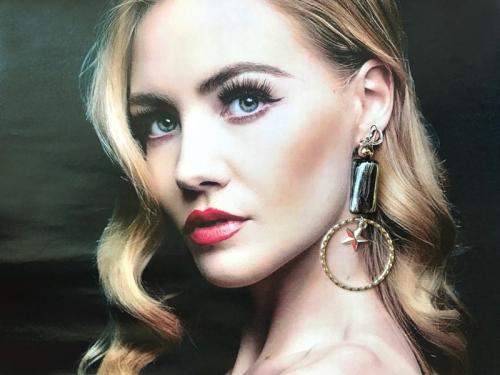 クエーキーセンスオリジナル「Flamingo collaboration earrings(ピアス・イヤリング)」