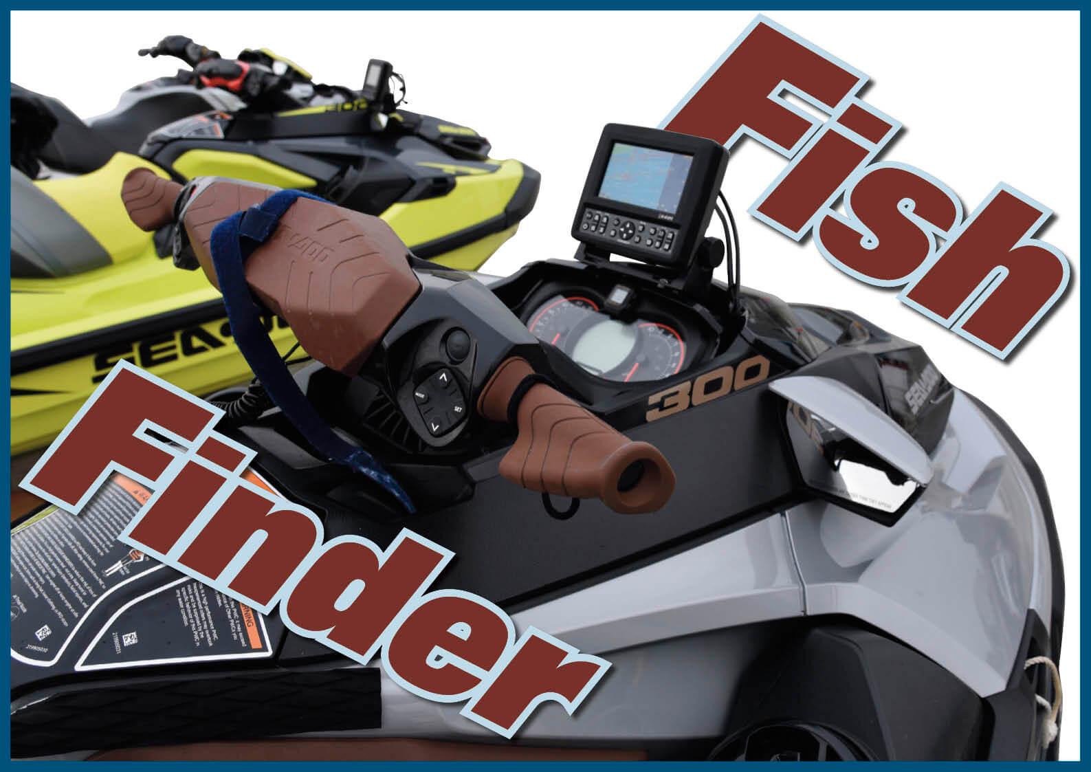 ジェットフィッシングの強い味方「魚群探知機」 ツーリングにも役立ちます。ジェットスキー(水上バイク)