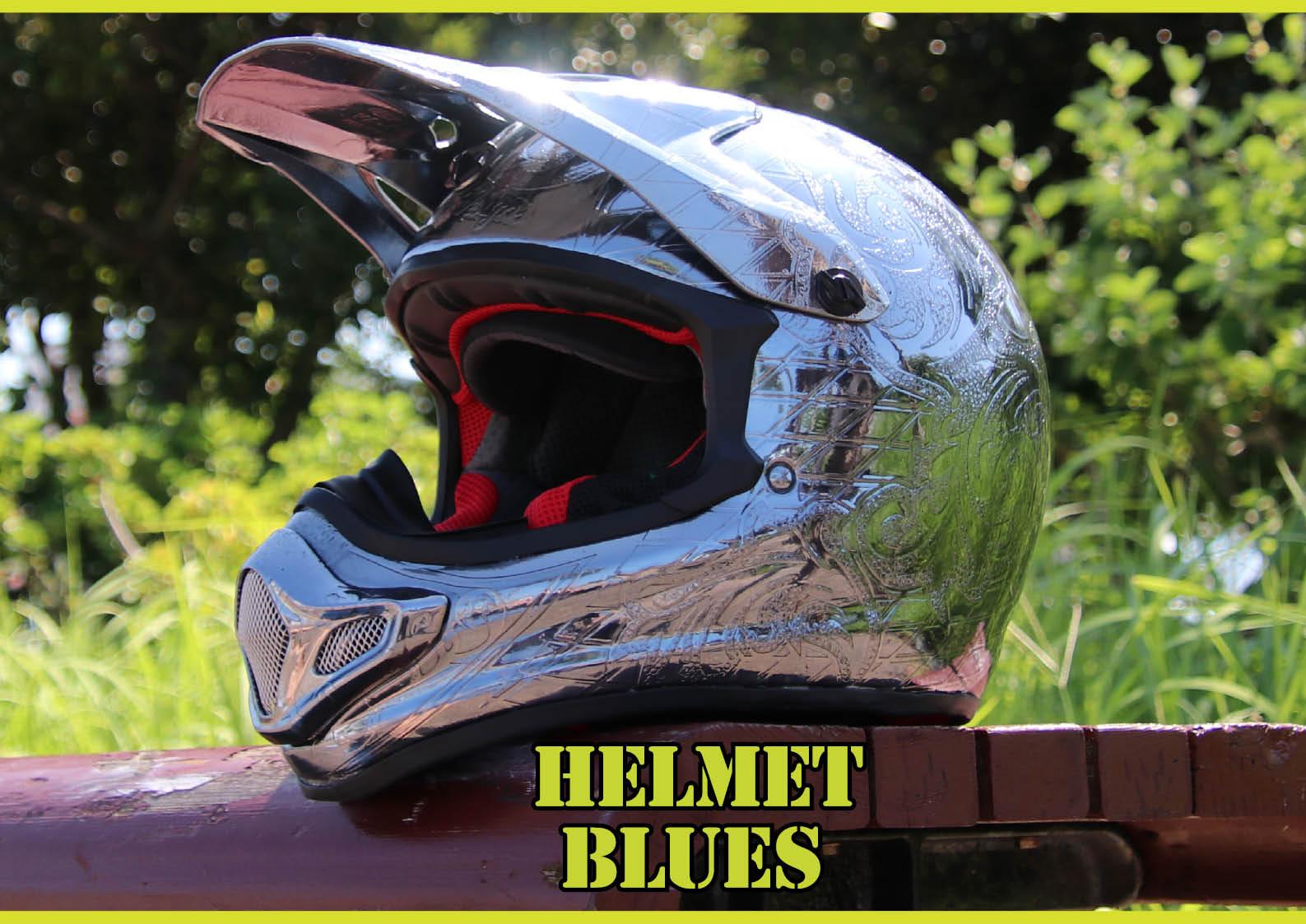 ナガイデザインのオールメッキのヘルメット タネも仕掛けもちょっとアルよ  ジェットスキー(水上バイク)